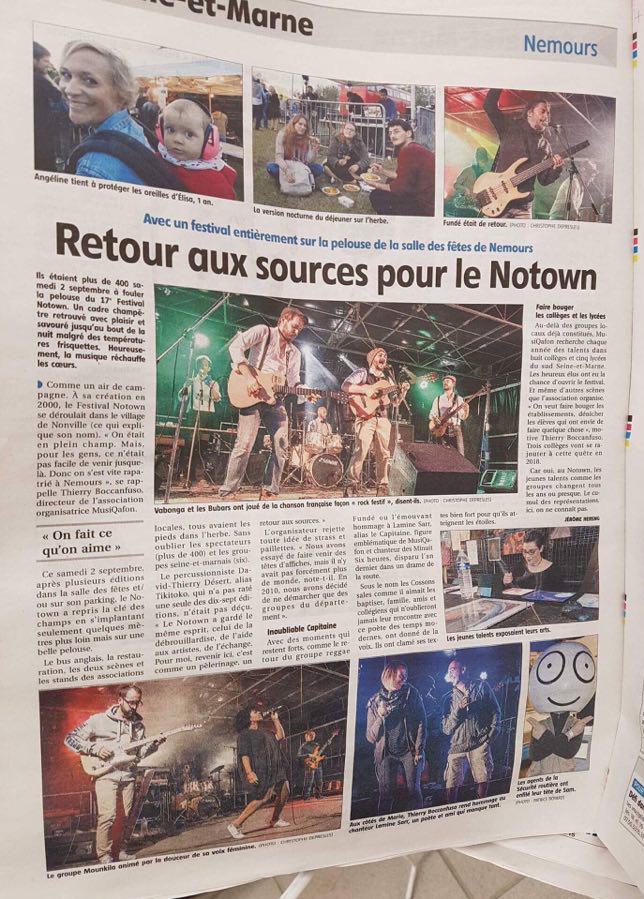Presse - septembre 2017 - Vabonga & Les Bubars
